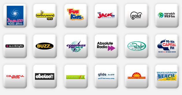 a selection of anglia radio stations