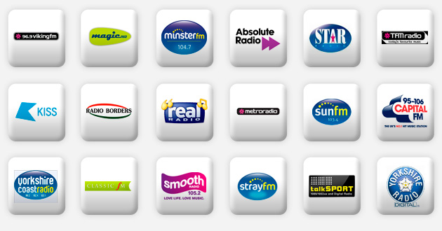 a selection of north east radio stations