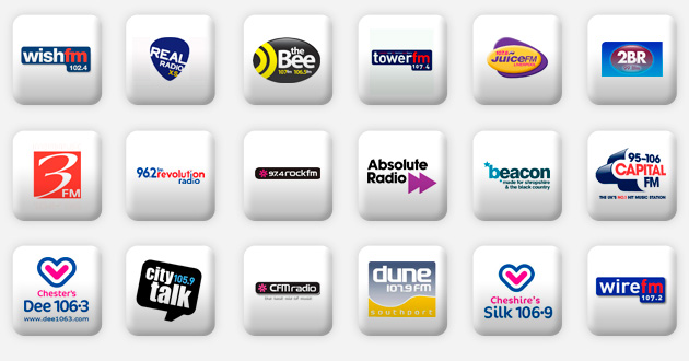 a selection of north west radio stations