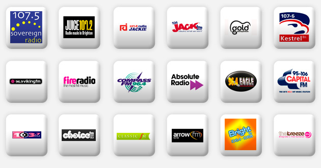 a selection of south radio stations