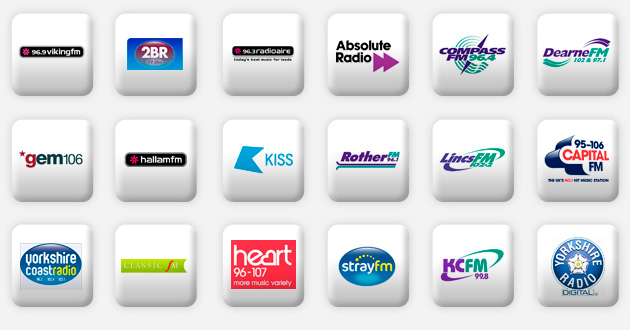 a selection of yorkshire radio stations